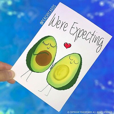 Expecting Baby Pregnancy Announcement Greeting Cards Avocado Surprise Baby PC413