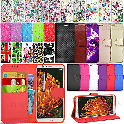 For Huawei Y6 2018 ATU-L11 Phone Cover Wallet Leather Case Flip + Screen Guard