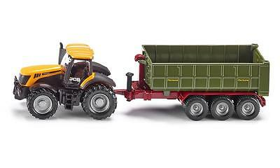 Siku SK1855 JCB Tractor with Hook-Lift Trailer, 1:87 Scale.