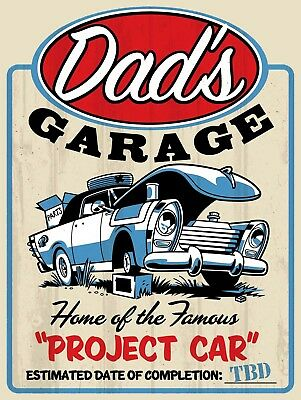 Dad's Garage, Retro metal Sign/Plaque, Gift, Home, Garage, Shed, Man Cave