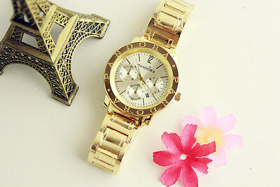 New Luxury Women's Stainless steel quartz Bear Wristwatch Simple P Watch