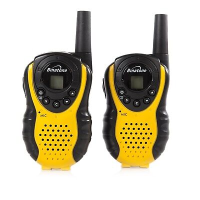 Binatone Latitude 100 Twin Walkie Talkie in Black and Yellow Best Gift For Kids