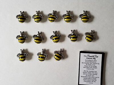 Lot of 13 Bumble Bee Pocket Token Charms w/cards
