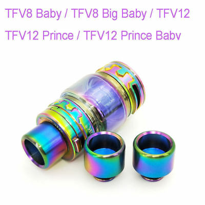 Drip Tip + Rainbow Extend Glass Tube Tank for SMOK TFV12  Prince / TFV8 Big Baby