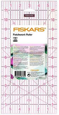 """Fiskars Acrylic Ruler 6"""" x 12"""" - Patchwork Quilting Sewing Rotary Cutter - 8735"""