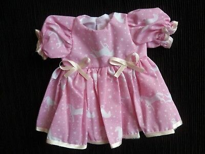 Baby clothes GIRL premature/tiny<3-4lbs/1.35-1.8kg pink unicorn dress