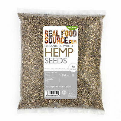 RealFoodSource - Organic EU Whole Hemp Seeds 1kg