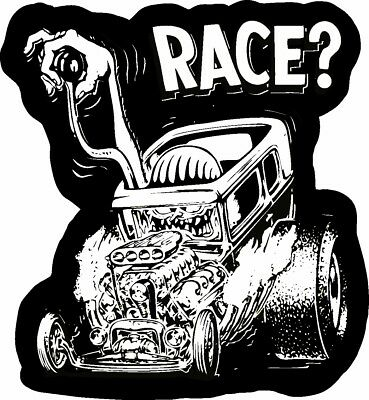 Race Old School Rat Fink Rat Rod Hot Rod Muscle Car Vintage