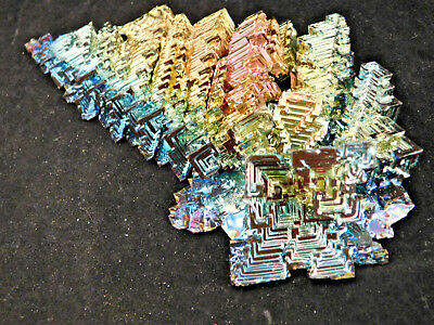 A BIG! Pink Blue Purple Green and Gold AAA BISMUTH Crystal From Germany 210gr e