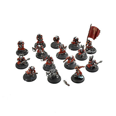 WARMACHINE Winter guard infantry, rocketeers officer standard #1 PLASTIC Khador