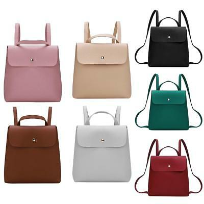 Women Backpack PU Leather Shoulder Handbag Schoolbags Tote Mini Rucksack Satchel