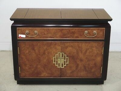 F43341:  CENTURY Chinoiserie Style Flip Top Server