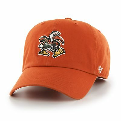 185a58455adf1 ... discount miami hurricanes 47 brand ncaa strapback adjustable dad cap hat  clean up orange 25b2f 4b4ad