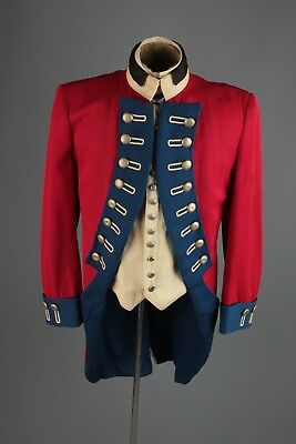 Vtg 1960s Colonial Style DeMoulin Marching Band Uniform Jacket sz M 38 60s #5166