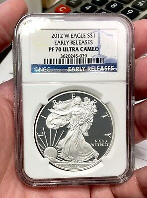 2012-W $1 American Silver Eagle NGC PF70 Ultra Cameo Early Releases