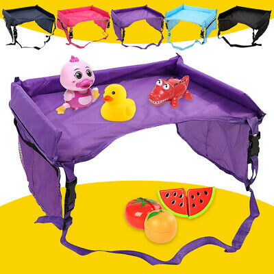 Waterproof Baby Kid Car Seat Snack Play Travel Tray Draw Board Table Organizer