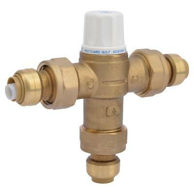 Heat Guard Mixing Valve 1/2 inch Brass 160 Thermostatic Instant Push-Fit Connect