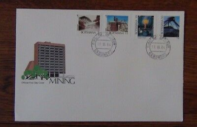 Botswana 1984 Mining set on First Day Cover