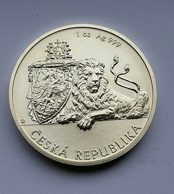 2017 Czech Niue Lion 1 OZ .999 Silver Only 10,000 Minted 1st Coin Ever Minted