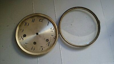 Antique clock bezel and face with glass