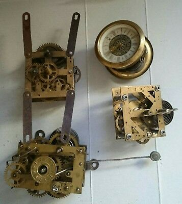 Antique clock movements x 4
