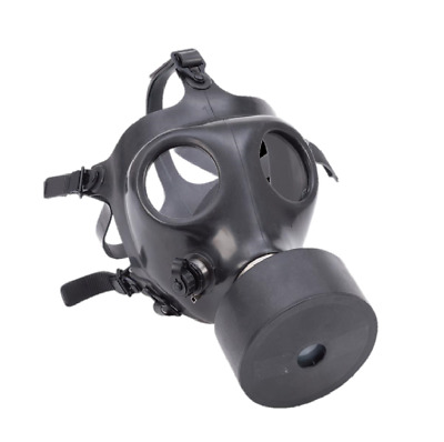 New Israeli Adult Gas Mask with NBC 40MM Filter, Hydration Port W/ Straw, Black