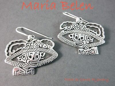 Maria Belen ~ Charming Mexican~LA CALAVERA CATRINA~925~Charm Dangle Earrings