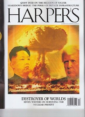 Donald Trump Kim Jong Un Harper's Magazine December 2017 Doomsday Denial