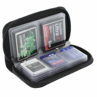 Memory Card Wallet 22 Micro SD SDHC CF SM Protective Storage Holder Pouch Case