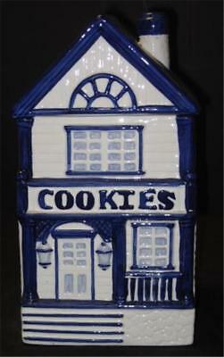 Home Trends Ceramic Cottage House Cookie Jar CKAO Made In China In Box