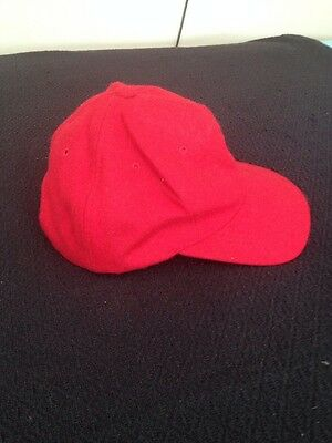 Baseball Cap Red Wool Snap Adjustable Size Quality Summer Sport hat Men Women