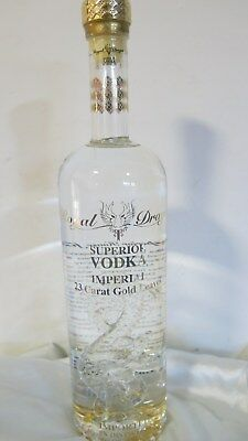 Royal Dragon Superior Vodka Imperial 23 Ct Gold Leaves  700ml New
