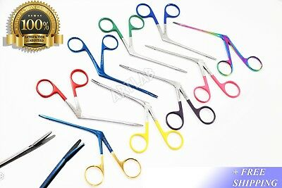 "New German Hartman Alligator Micro Forceps 3.5""  Set Of 9 Ent Instruments"