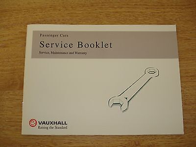 Brand New Vauxhall Service Book Unused Genuine Covers All Models Cars & Vans
