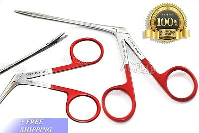 "German Grade Hartman Micro Alligators 3.5"" Red Rings Ent Surgical Instruments"