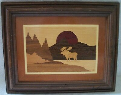 moose meadows  marquetry  picture by Nicholas Mariava