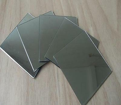 3mm Thick Acrylic Mirror 50x100mm Sheet Plastic Perspex Plexiglass Safety Panels