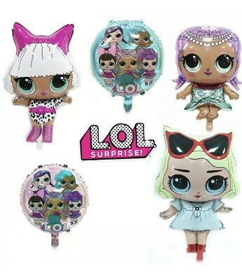 LOL Surprise Doll FOIL HELIUM Balloon Party Supplies Decoration. Lolly Bag Cake