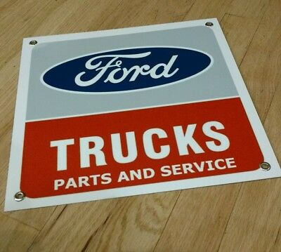 Ford Trucks parts and service sign