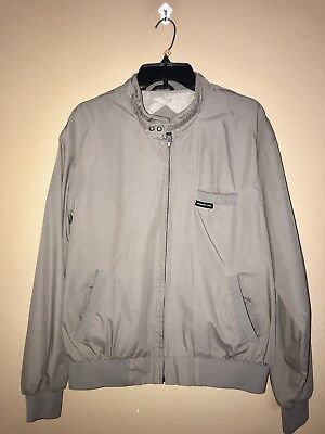 Vintage 80's Members Only Grey Iconic Racer Jacket Size L