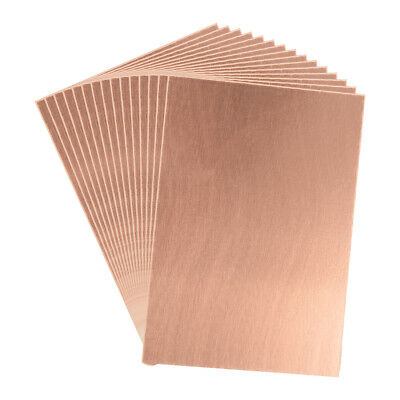 7X10cm Single Sided Copper Clad Laminate PCB Circuit Board Brown 15pcs