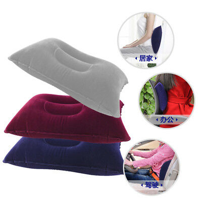 Hot Portable Ultralight Inflatable Air Pillow Cushion Travel Camping Cosy Rest