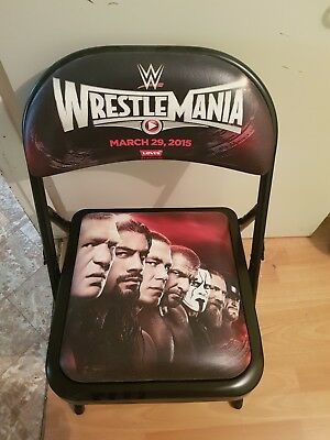 WWE Wrestlemania 31 Chair SETH ROLLINS BROCK LESNAR ROMAN REIGNS