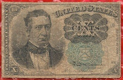 Fr 1264 - 10 Cents Fifth Issue Fractional Currency - Green Seal - Fine - #510