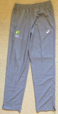 Cricket Australia Training Pants - Grey Lightweight Polyester - Mens L - Asics