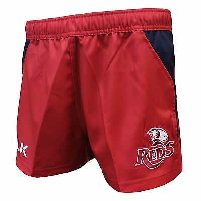QLD Reds 2017 Onfield Home Shorts  Sizes S - 7XL  **SALE PRICE**