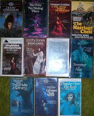 Lot of 11 gothic romance paperbacks romantic suspense mystery
