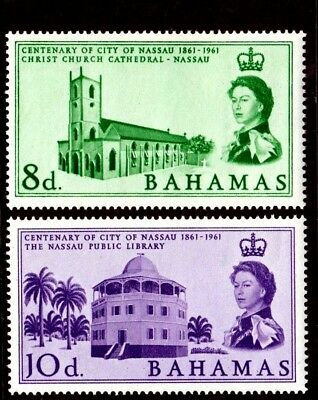 Bahamas - 1962 - Qe Ii - Nassau Centenary - Library - Church + Mint - Mnh Set!