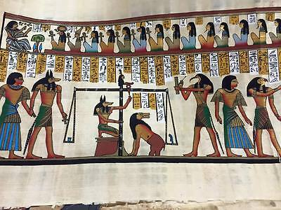 Vintage Hand Painted Egyptian Papyrus signed by the original Egyptian Artist