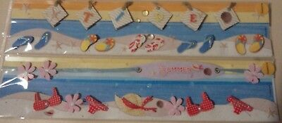 Scrapbooking page topper x 2 Summer beach theme